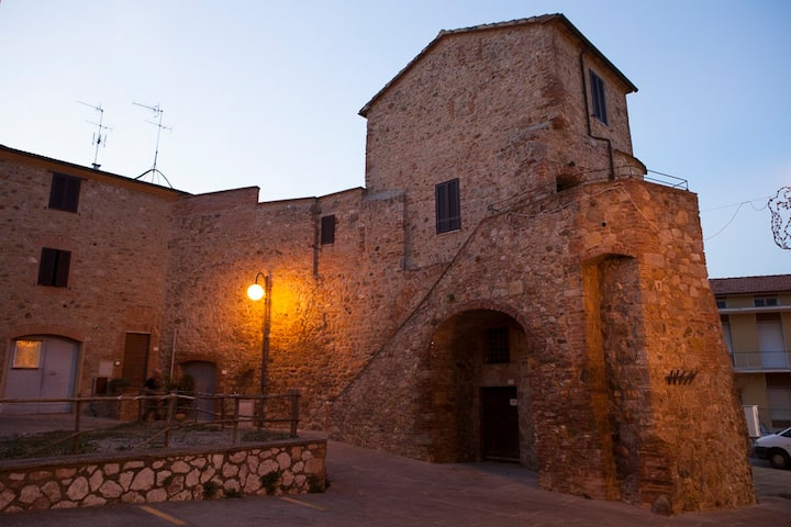 Medieval round tower in Tuscany