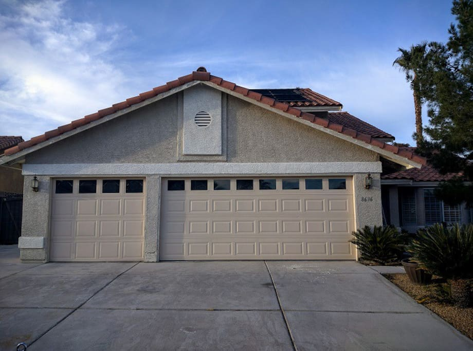 Property has 3 car garage and plenty of parking.