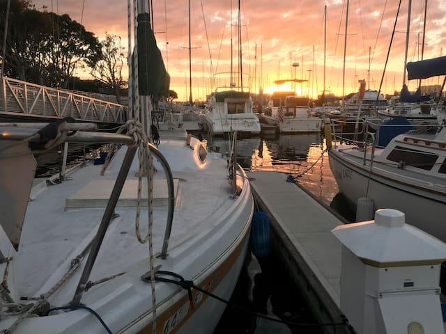 Romantic clean sail boat