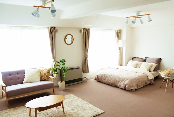 THE BEST! Middle of Sapporo city! Max 8 ppl!AS195 - Chūō-ku, Sapporo-shi - Apartamento