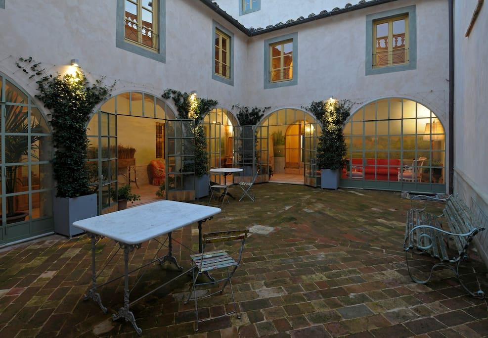 Il giardino di inverno con veranda