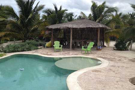 """Beautiful Beachfront 3 Bedroom/5 Bathroom house in Telchac Puerto"" - Telchac Puerto - House"
