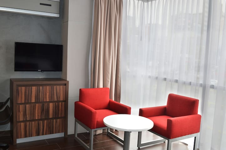 Small living room in the Suite