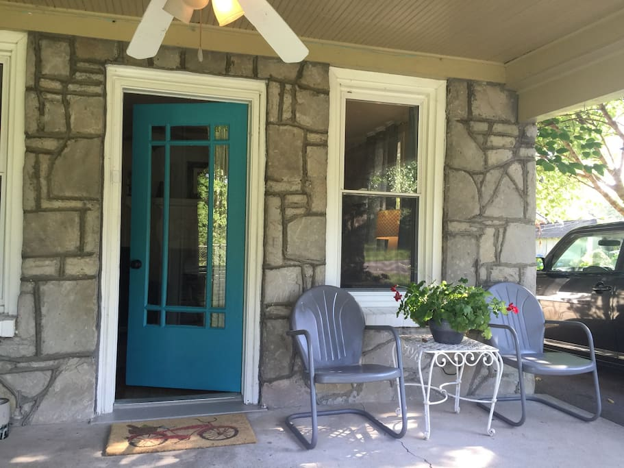 Relax on our covered front porch