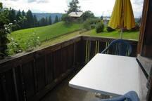 Balkon mit Alpenblick