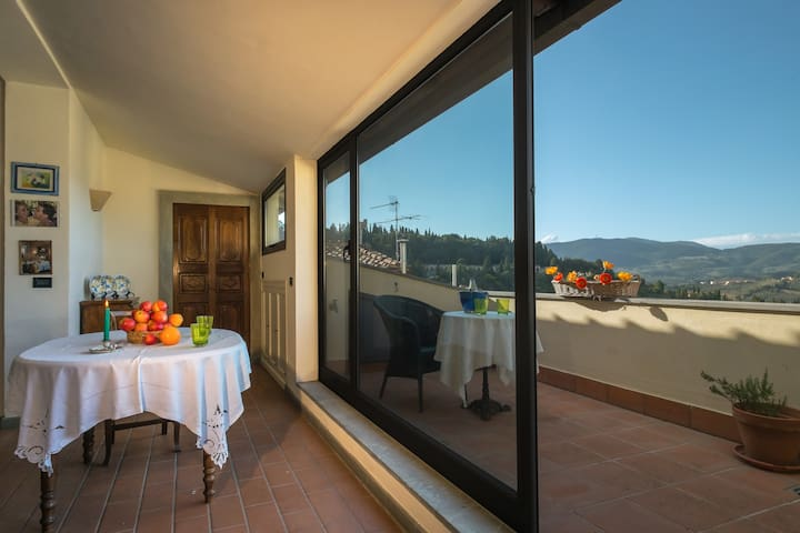 Attic Panoramic Center Fiesole - Fiesole - Apartament
