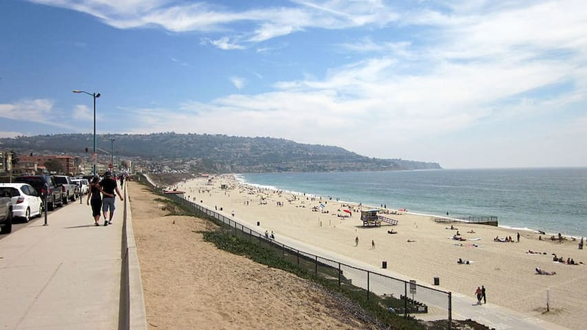Redondo beach 15/20  minutes walking from the house or by car 8 minutes