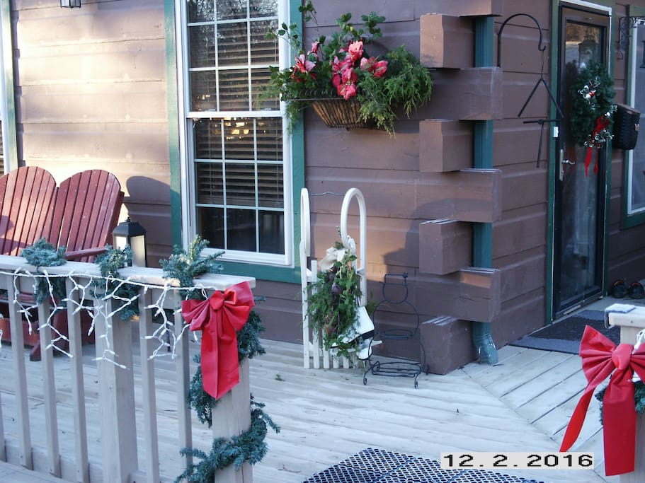 As you approach the main entry porch where we'll greet you!
