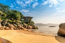 Beach and beach house