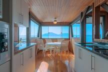 View from the kitchen of the beach house