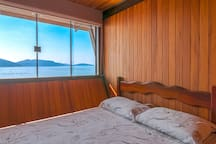 One of the bedrooms of the beach house