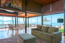Living room of the beach house
