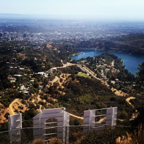 Walk out the front door and to the top of the Hollywood Sign in less than 30 minutes.  (Some sweat required.)