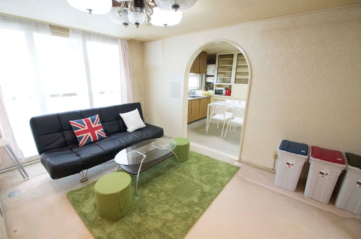 Comfy place near Susukino area with free parking