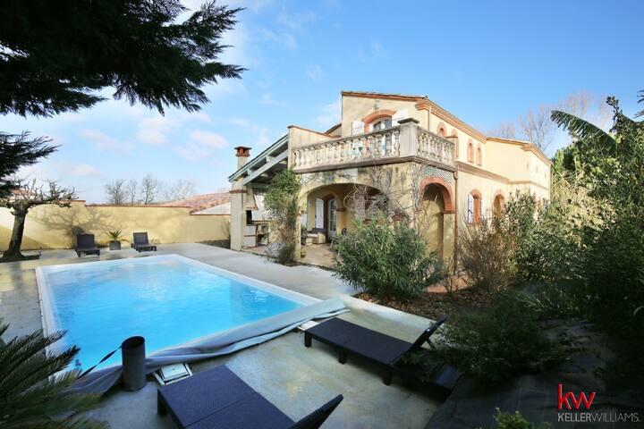 Maison 5 chambres avec piscine privée