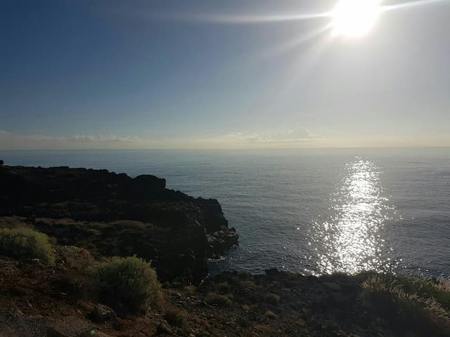 Tenerife South,sun and relaxation in beach chalet
