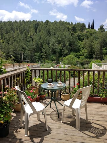 The deck - enjoy your morning coffee or tea, or a peaceful afternoon