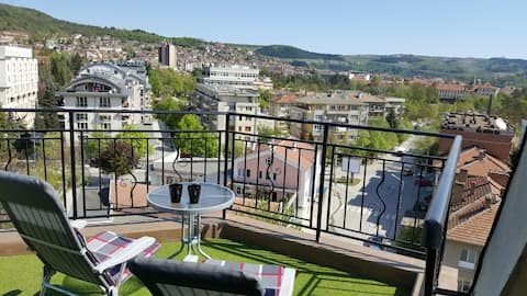 Pretty Room with amazing terrace FREE PARKING!