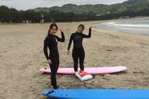 Surf Lesson in Yumigahama Beach