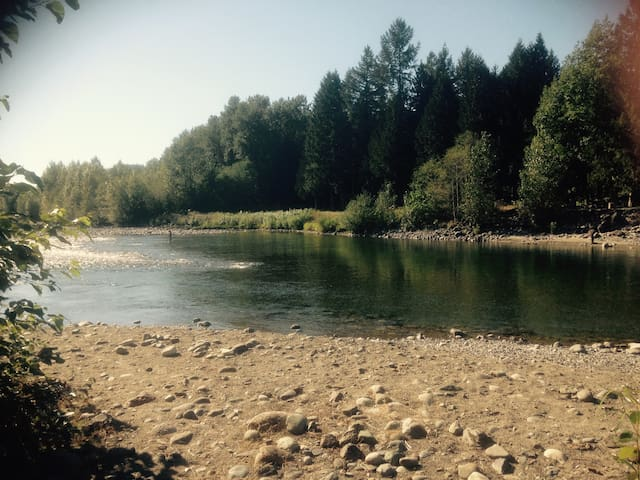 Our beach on the Chilliwack River in Summer