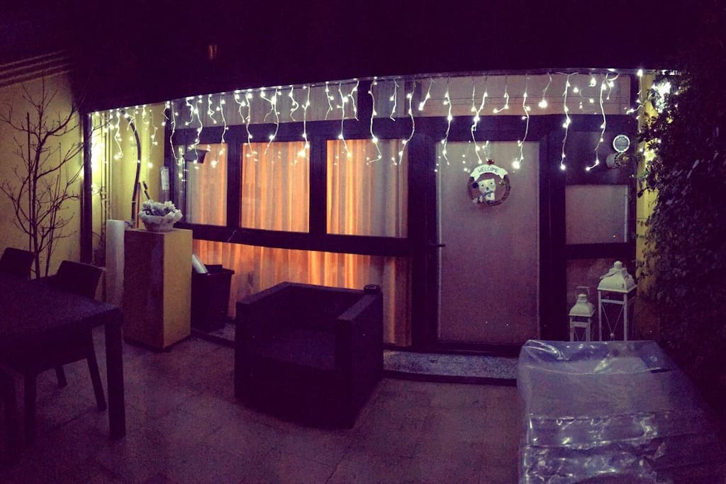 Christmas time on the terrace