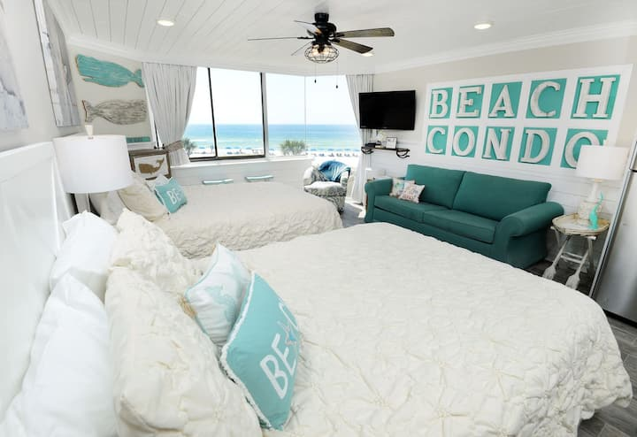 NEW! Beachfront beauty directly on the SAND - FREE beach chairs daily!