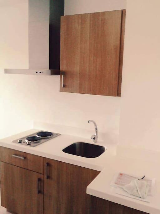 Kitchen and cabinet