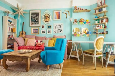 Charming colourful apartment – near Montparnasse - Paris - Apartment