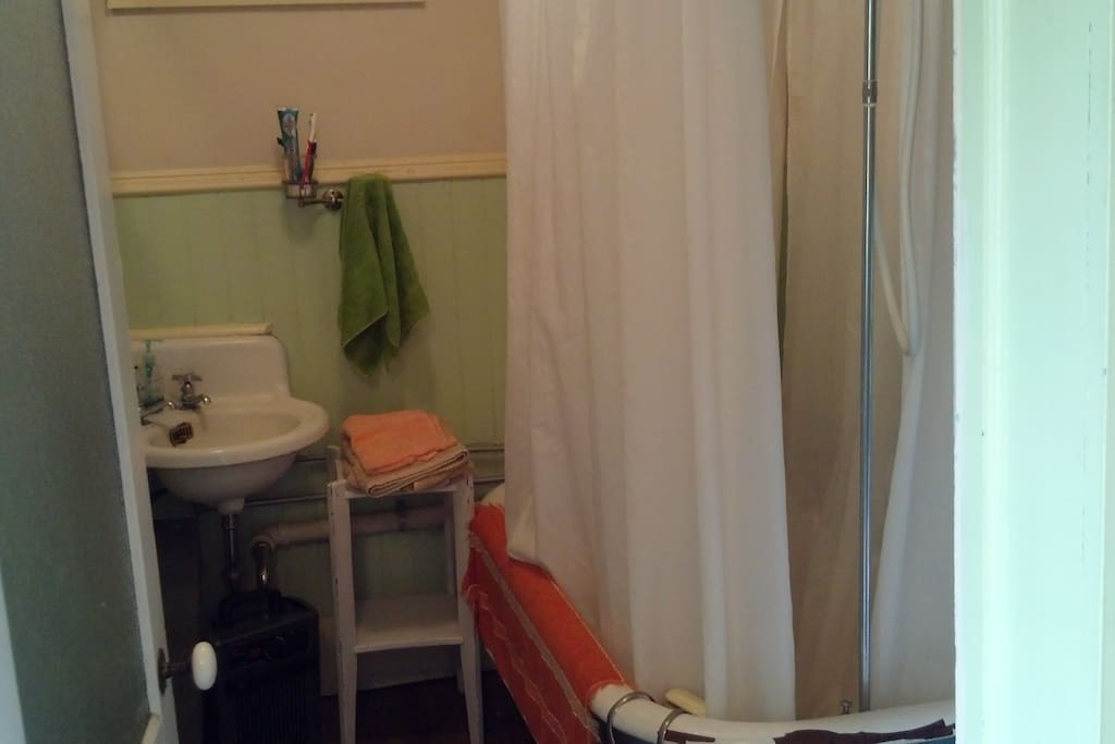 Nice, clean Bathroom off the kitchen.