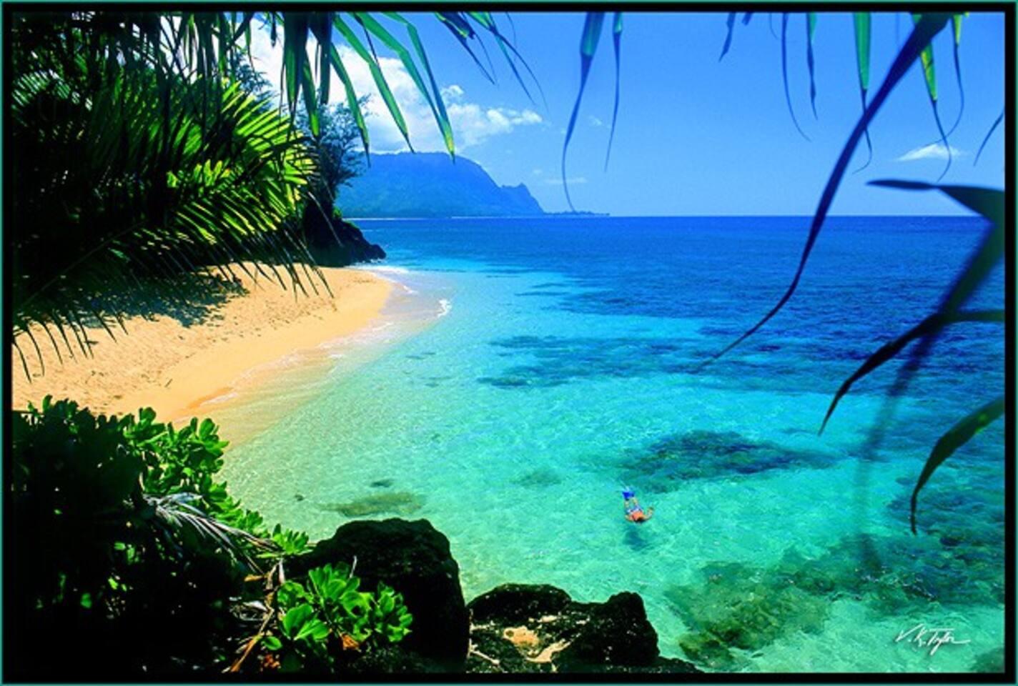 Hideaways beach is within walking distance