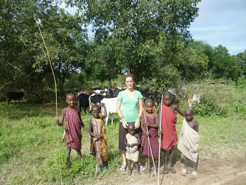 Traditional Masai hut close to Songe, Tanzania