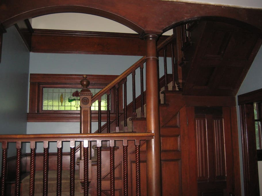 Our beautiful Grand Queen Anne staircase.