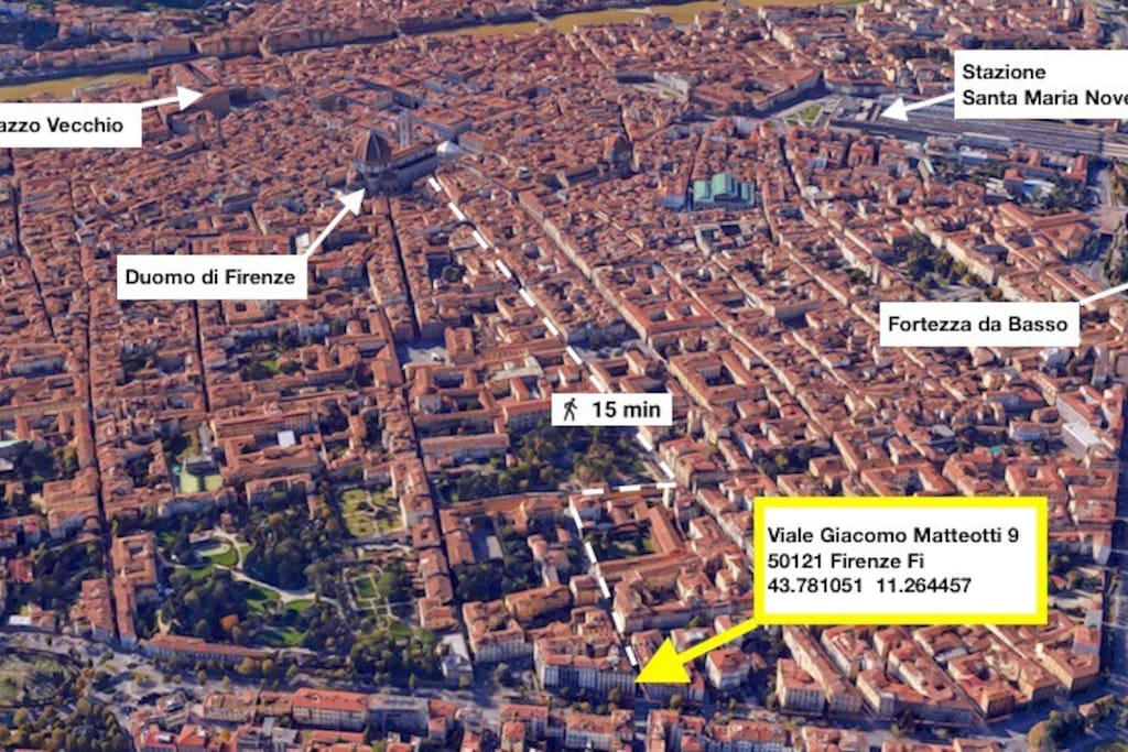 A 15 minuti a piedi dal Duomo