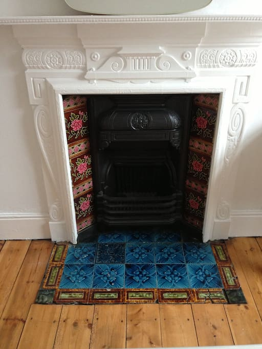 Original fireplace in the room