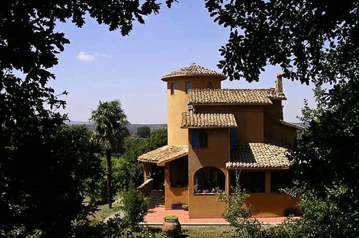 Villa Le Terrae 1hr from Rome. Lazio-Umbria border