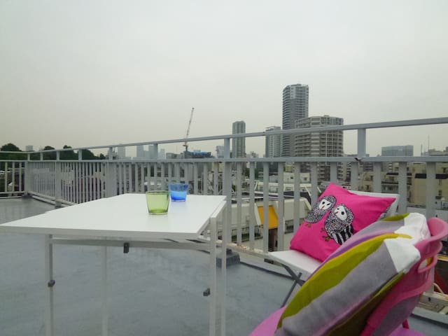 Rooftop View Spacious house(12min to Ueno Sta.&Zoo - Taitō-ku - Daire