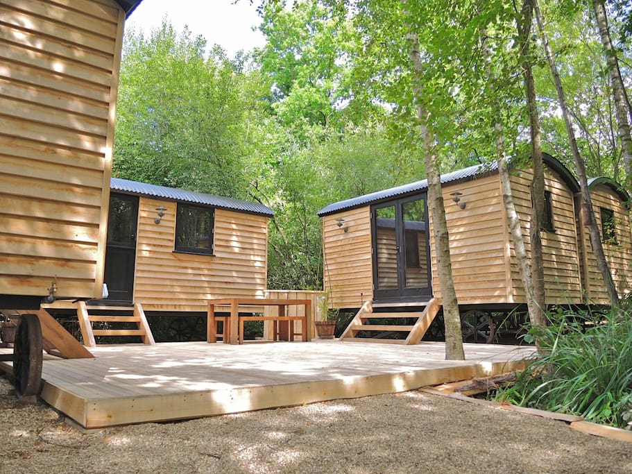 You get ALL FOUR of these cabins to yourself ! Each a different room.