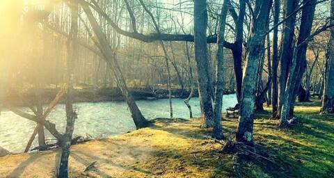노틀리 강의 숨겨진 오두막