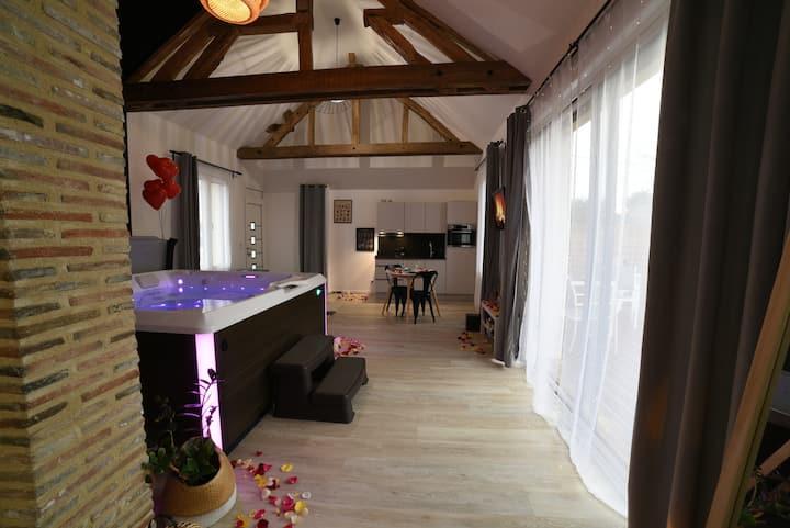 L'Eaudyssée Maison avec SPA Privé à 1h30 de Paris