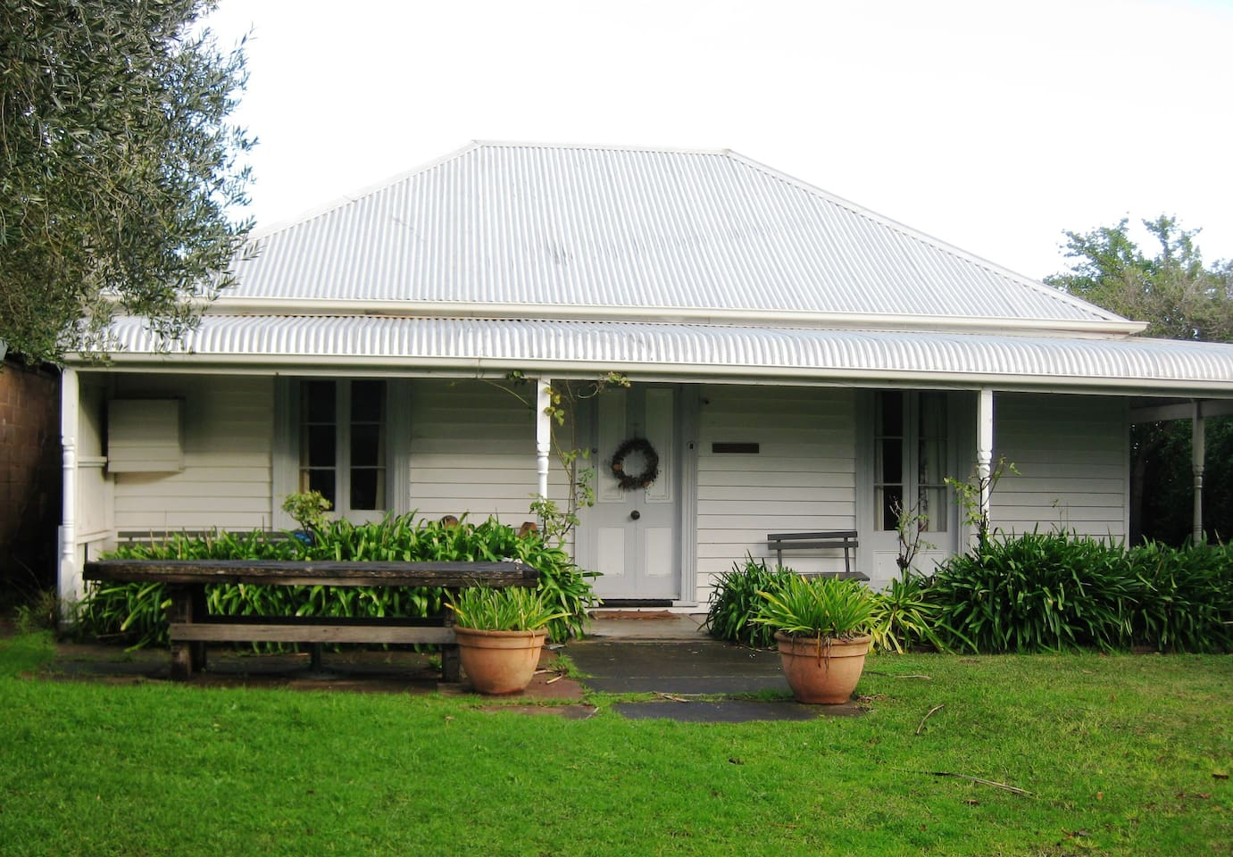 Our cottage with gorgeous and spacious front yard to enjoy the summer!