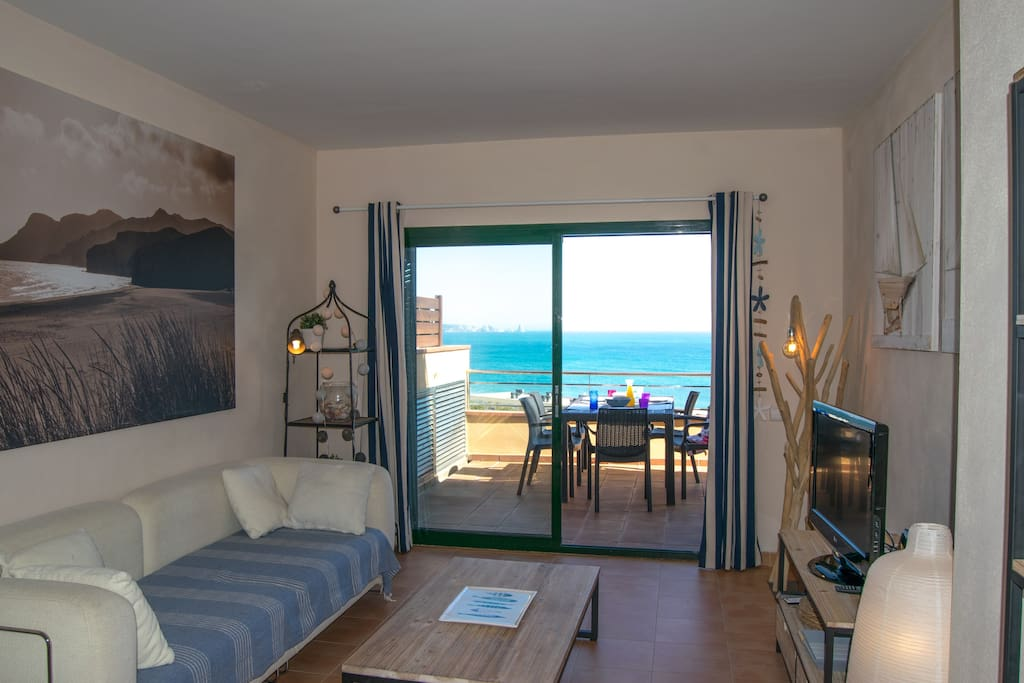 Living room with sea view - SA PUNTA COSTA BRAVA