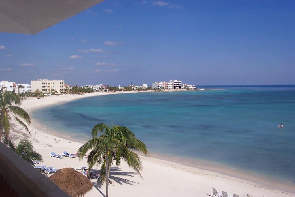 La Bahia is beach front on beautiful Half Moon Bay in Akumal Mexico.