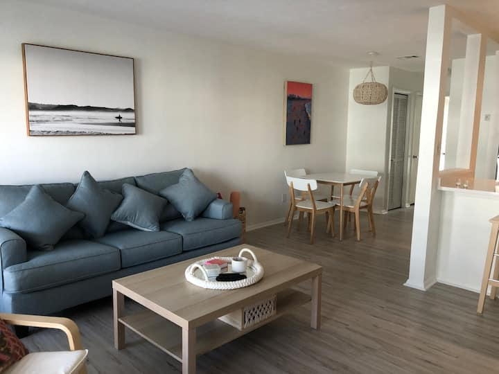 2020 renovated unit and only steps to the beach!