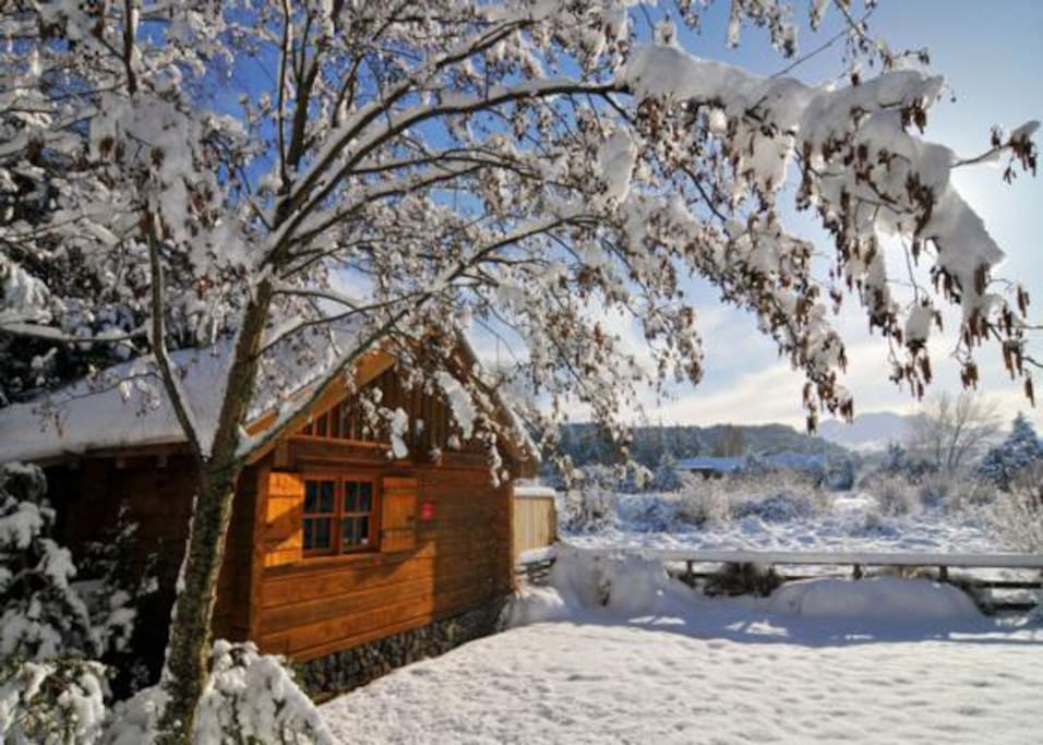 Gorgeous log cabin w mountain views chalet in affitto a for Cabine in affitto in montagna ga