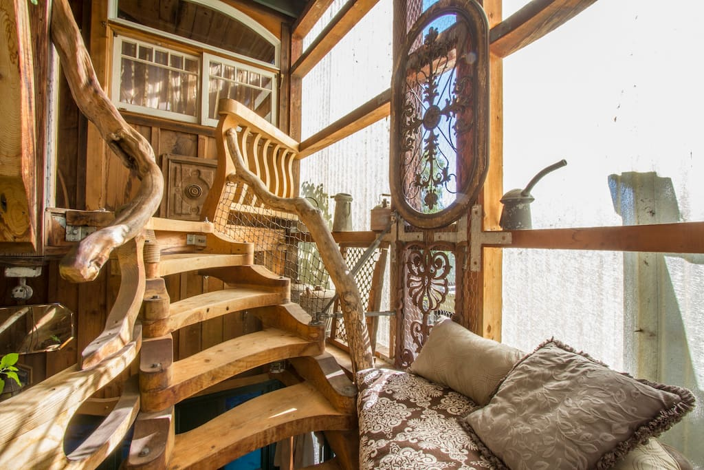 Spiral staircase to your perch.