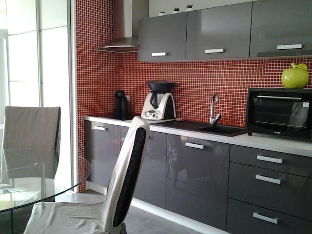Chambre dans appartement avec balcon - La Roche-sur-Yon - Apto. en complejo residencial