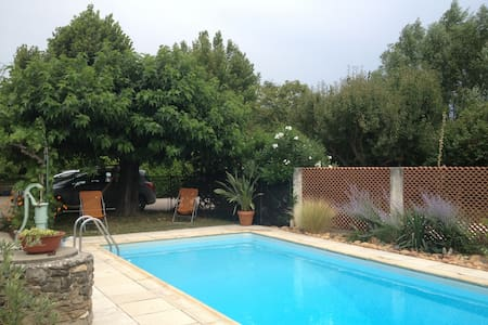 Studio in the countryside with pool - Monteux - Wohnung