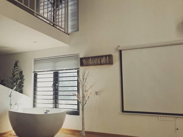 Homepa网红浴缸投影仪电影