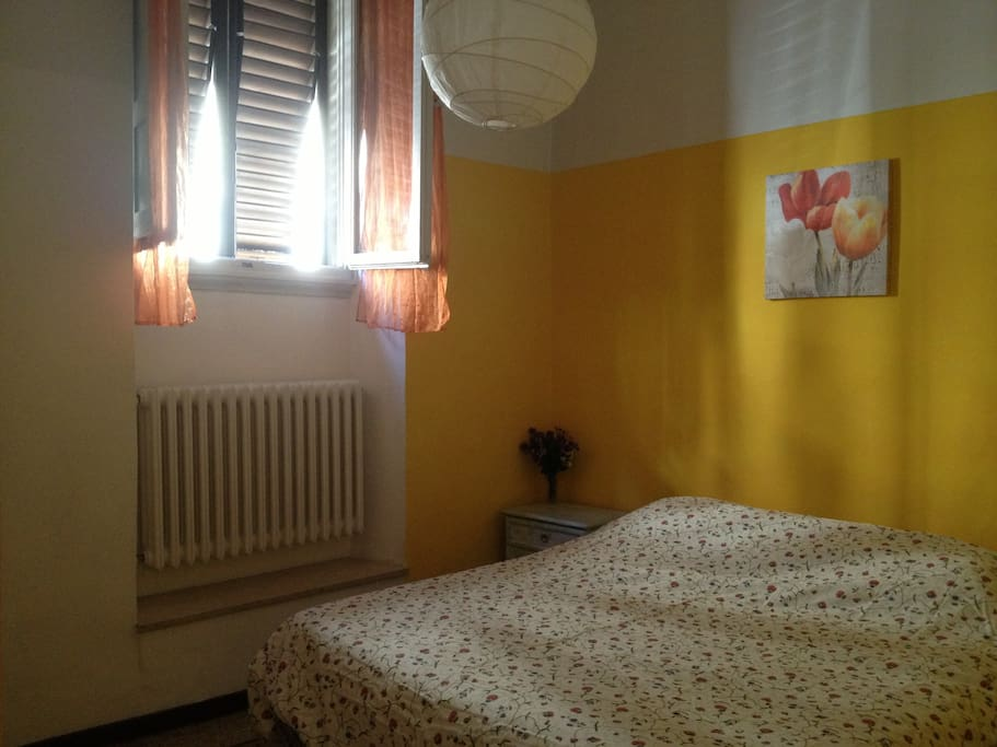 Yellow bedroom.