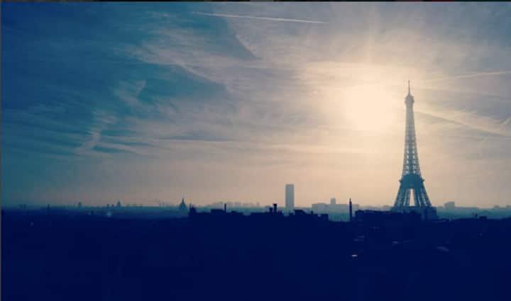 Cozy studio 2 pers, stunning Eiffel Tower's view